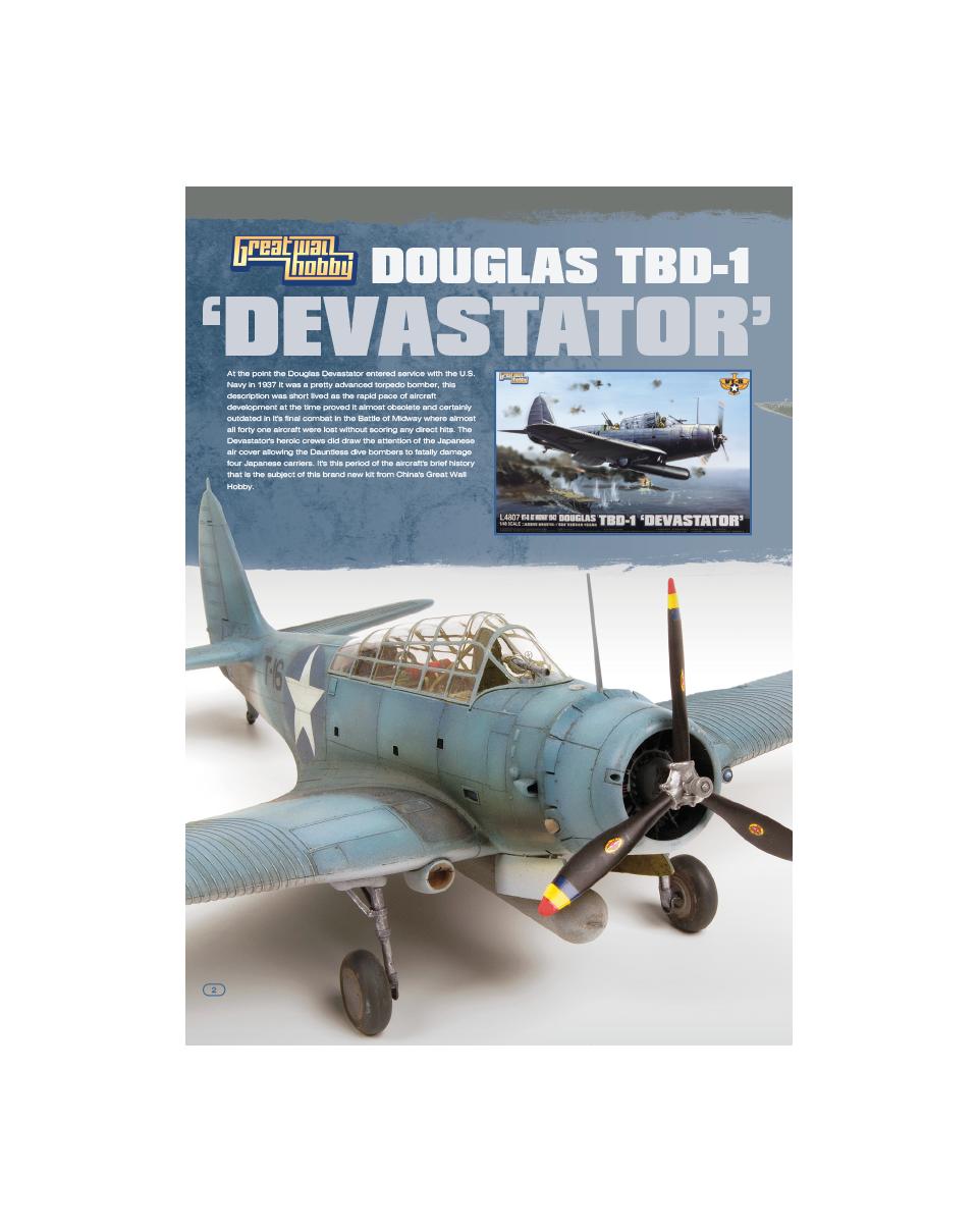 GreatWall 1//48 L4807 Douglas TBD-1 Devastator